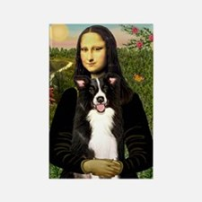Mona/Border Collie Rectangle Magnet