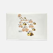 Unique Bumblebee Rectangle Magnet