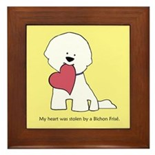 My Heart Was Stolen By Bichon (yellow) Framed Tile