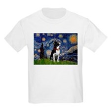 Starry Night/Boston Terrier T-Shirt