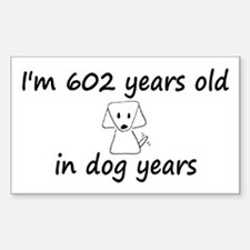 86 dog years 3 Decal