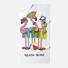 Flamingo Beach Bums Beach Towel