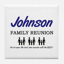 Johnson Family Reunion Tile Coaster