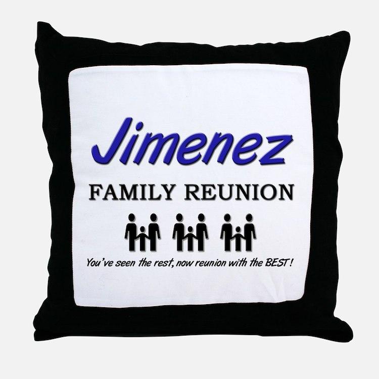 Jimenez Family Reunion Throw Pillow