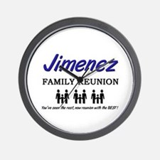 Jimenez Family Reunion Wall Clock