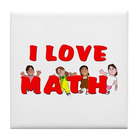I love math Tile Coaster