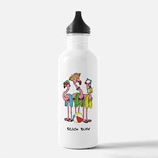 Flamingo Beach Bums Water Bottle
