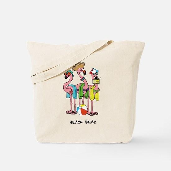 Flamingo Beach Bums Tote Bag
