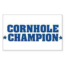 Cornhole * Champion * Rectangle Decal