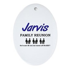 Jarvis Family Reunion Oval Ornament