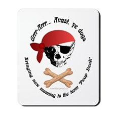 Pirate Dog Skull & Crossbiscuits Mousepad