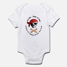 Pirate Dog Skull & Crossbiscuits Infant Bodysuit
