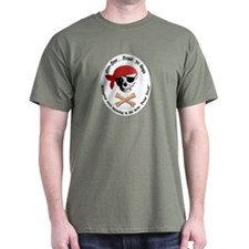 Pirate Dog Skull & Crossbiscuits T-Shirt