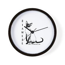 Siamese Wall Clock