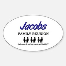Jacobs Family Reunion Oval Decal