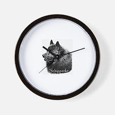 Schipperke head Wall Clock