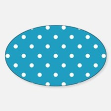 BLUE AND WHITE Polka Dots Decal
