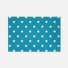 BLUE AND WHITE Polka Dots Magnets