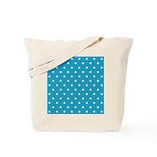 BLUE AND WHITE Polka Dots Tote Bag