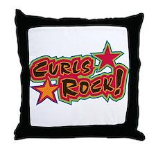 Curls ROCK! Throw Pillow