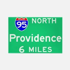 Providence RI, Interstate 95 North Rectangle Magne