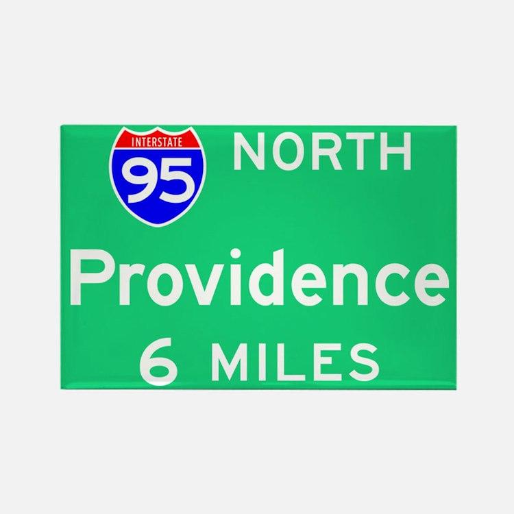 Providence RI, Interstate 95 North Rectangle Magne