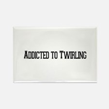 Addicted to Twirling Rectangle Magnet (10 pack)