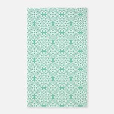 Lucite Green & White Lace 2 Area Rug