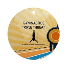 Gymnastics Teepossible.com Ornament (Round)