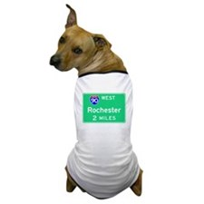 Rochester NY, Interstate 90 West Dog T-Shirt