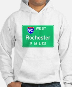 Rochester NY, Interstate 90 West Hoodie