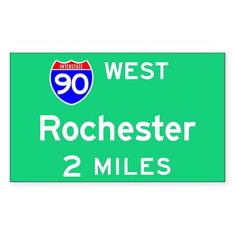 Rochester NY, Interstate 90 West Sticker (Rectangu