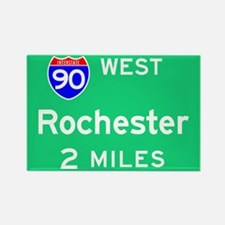 Rochester NY, Interstate 90 West Rectangle Magnet