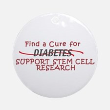 FIND CURE FOR DIABETES, STEM CELL RESEARCH Ornamen