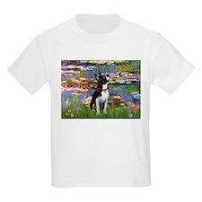 Lilies & Boston Terrier T-Shirt