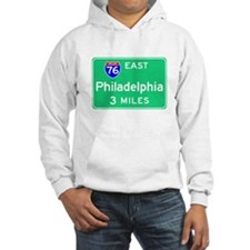 Philadelphia PA, Interstate 76 East Hoodie