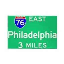 Philadelphia PA, Interstate 76 East Rectangle Magn