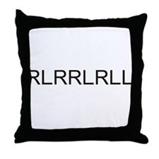 Rlrrlrll Throw Pillow