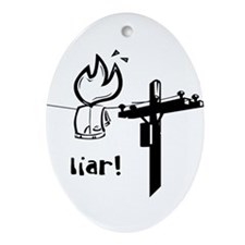 'Liar' Naughty Kid Oval Ornament