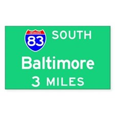 Baltimore MD, Interstate 83 South Decal