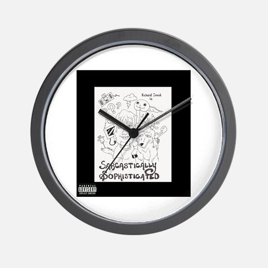 Sarcastically Sophisticated Wall Clock
