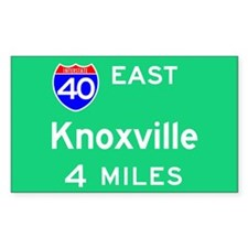 Knoxville TN, Interstate 40 East Sticker (Rectangu
