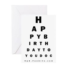 Optometrist Birthday Eye Chart Card Greeting Cards