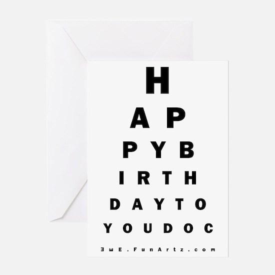 Optometrist Birthday Eye Chart Card Greeting Cards