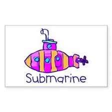Kid Art Submarine Rectangle Decal