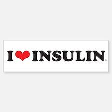 I Love (Heart) Insulin Bumper Bumper Bumper Sticker