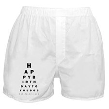 Optometrist Birthday Eye Chart Boxer Shorts