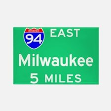 Milwaukee WI, Interstate 94 East Rectangle Magnet