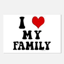 I Love My Family - I Heart My Family Postcards (Pa