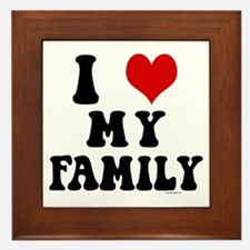 I Love My Family - I Heart My Family Framed Tile